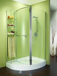 Small Bathrooms With Corner Showers Corner Shower Stalls For Small Bathrooms With Glass Panel And Open