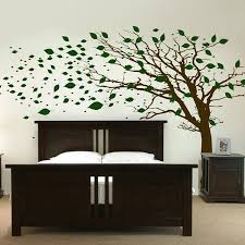 tree with leaves blowing in the wind wall decal sticker graphic