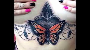 breast tattoos for women youtube