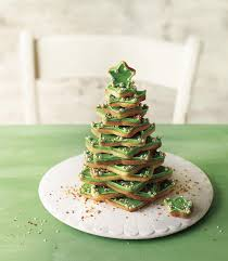 stacked star biscuits make a christmas tree alternative to the