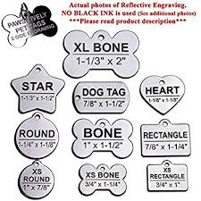 Engravable Dog Tags Amazon Com Custom Stainless Steel Pet Id Tags Front And Back