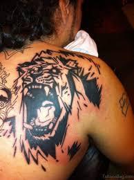 97 groovy lion tattoos on shoulder