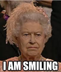 Queen Of England Meme - i am smiling queen of england quickmeme