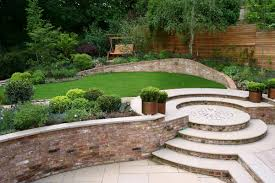 Ideas For Very Small Gardens by Superb Modern Home Garden Idea With Brick Accents Also Patio Area