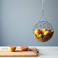 fruit basket spherical hanging basket on food52