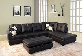 Sectional Sofa With Storage Beverly Furniture 2 Faux Leather Sectional Sofa