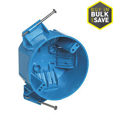 shop carlon 1 gang blue pvc interior new work standard round