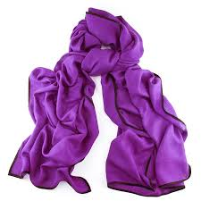 black co uk bleeker purple and black scarf cashmere and silk in