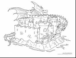 marvelous dragon and castle coloring pages with dragons coloring