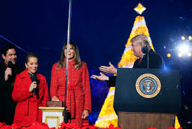 2017 national christmas tree lighting trump lights national christmas tree for 1st time boston herald