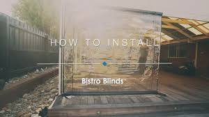 Plastic Cafe Curtains How To Install Your Bistro Blinds Youtube