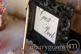 wedding guest book sign wedding guest book sign calligraphy style reception signage