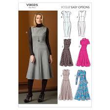 dress pattern john lewis buy vogue easy options women s dress sewing pattern 9025 john