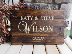 shabby chic address sign painted on barn wood post included