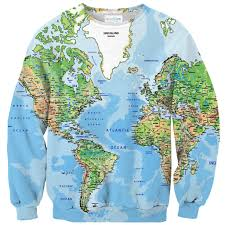 Greenland World Map by World Map Sweater Shelfies
