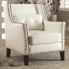 valuable ideas white leather accent chair perlora modern amp