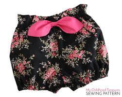 paper bag toddler shorts pattern not a freebie 2 6yr high waisted paper bag bloomer pattern pdf