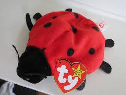 rare ty beanie baby lucky ladybug tag date error 8 spots