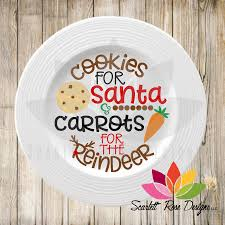 cookies for santa plate christmas svg cookies for santa carrots for the reindeer cut