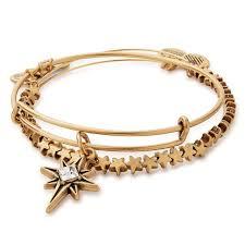 bracelet star images Alex and ani north star set of 2 bangle bracelets rafaelian gold jpg