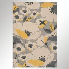 Yellow Area Rug Impressive Area Rugs Fabulous Gray Yellow Rug Cecilia Modern Poppy