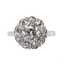 vintage halo engagement rings vintage deco halo engagement ring berkeley