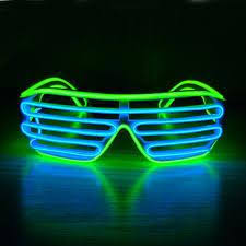 party sunglasses with lights neon party rave glasses light up el wire led sunglasses go for