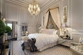 Chandelier In Master Bedroom Traditional Master Bedroom With Crown Molding U0026 Chandelier In New