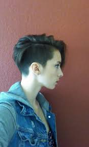 edgy short hairstyle with undercut fade haircut