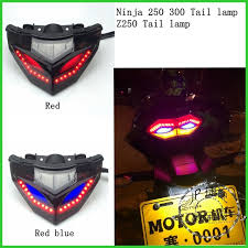 ninja 300 integrated tail light new motorcycle taillight modified led tail light red turn signal