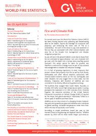 Wildland Fire Canada Conference 2014 by The Geneva Association World Fire Statistics