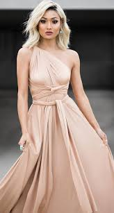 beige wrap dress great for a wedding or formal occasion so many