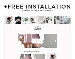 lifestyle design blogs simple blog layout etsy