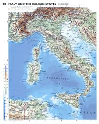 Italian Map Large Detailed Physical Map Of Italy With Roads And Major Cities