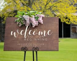 personalized wooden wedding signs wedding welcome sign etsy