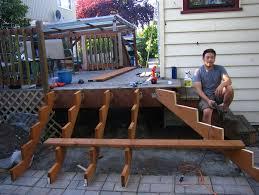 Corner Deck Stairs Design Build Deck Stairs Around Corner Home Design Ideas