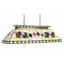 poker stained glass pool table light stargate cinema