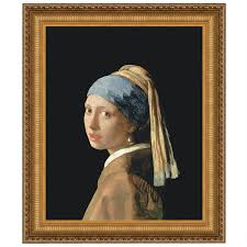 pearl earring painting the girl with a pearl earring 1665 canvas replica painting small