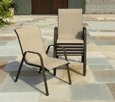 patio ideas infinity love seat beige metal textilene reclining