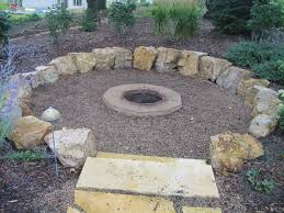 Stone Patio With Fire Pit Exterior Affordable Landscape Design With Natural Stone