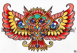 commission owl tattoo design 2 by lutamesta on deviantart