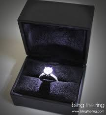 wedding ring in a box bling the ring the yes