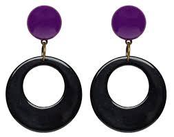 black hoop earrings luxulite black drop orange hoop earrings sourpuss clothing