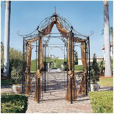 Metal Arches And Pergolas by The Amelie Architectural Steel Garden Gazebo Fz397 Design Toscano