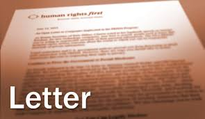 letter to president obama urging him to address human rights in