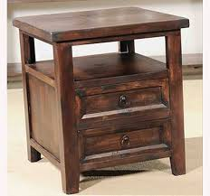 wood end tables with drawers castle 2 drawer end table
