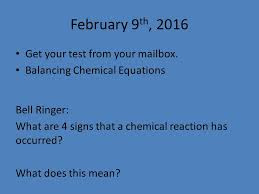 february 9 th 2016 get your test from your mailbox balancing