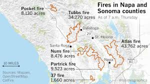 Map Of Sonoma County Here U0027s What We Know About The Deadly Northern California Wildfires