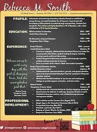 Unique Resume Template Creative Teacher Resume Reflection Template Teacher Creative
