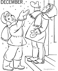 december coloring book pages